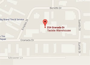Map of Tackle Warehouse's Location