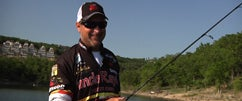 Fishing a Shakeyhead w/Jeff Kriet at Table Rock Lake