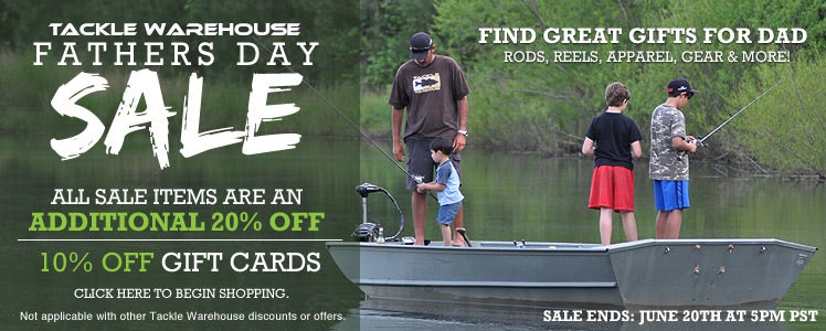 Tackle Warehouse Father's Day Sale