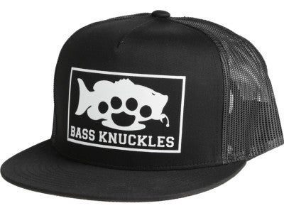 Bass Knuckles Trucker Hat Black