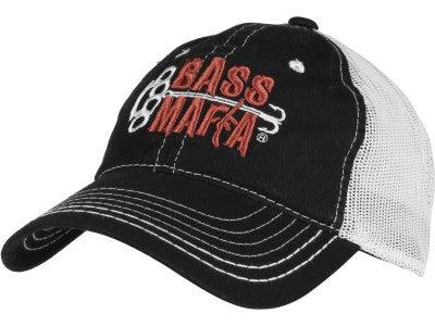 Bass Mafia Bait Mesh Cap Black/White