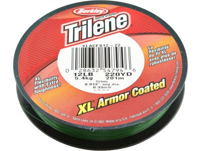Berkley Trilene XL Armor Coated Line Green