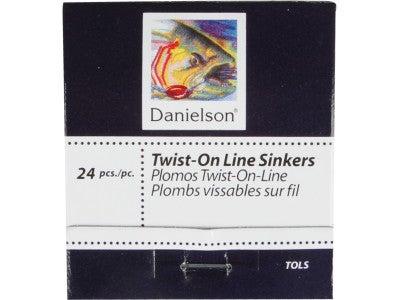 Danielson Twist-On Line Sinkers 24pk