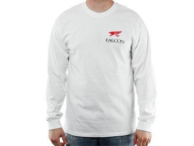 Falcon Logo Longsleeve T-Shirt White