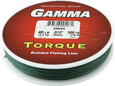Gamma torque high performance 100 spectra braid for Gamma fishing line