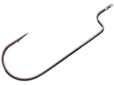Gamakatsu Offset Round Bend Worm Hooks Black