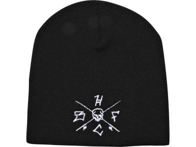 Hardcore Bass Fishing Crossed Rods Beanie Black