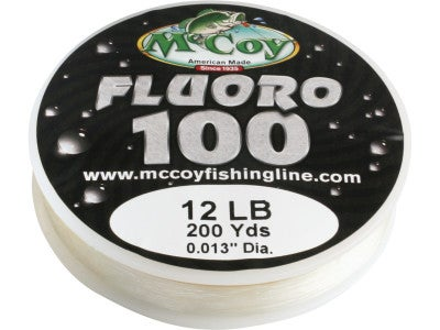 McCoy Fluoro100 100% Fluorocarbon Line 200yd