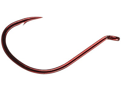Mustad Wide Gap Dropshot Hook Red 6pk