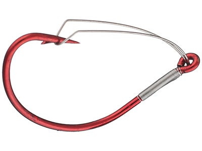 Mustad Wide Gap Weedless Hook Red 5pk