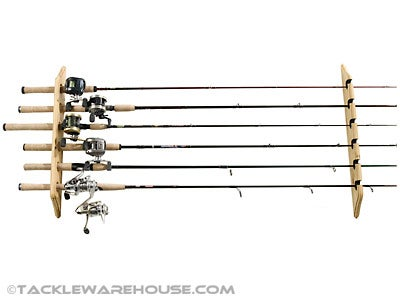 Organized Fishing Horizontal Wall Rack