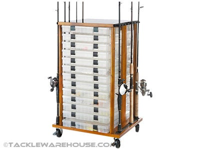 Organized Fishing Typhoon Rolling Rack 16 Rod Capacity