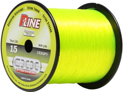 P line cxx fluorescent green for Fluorescent fishing line