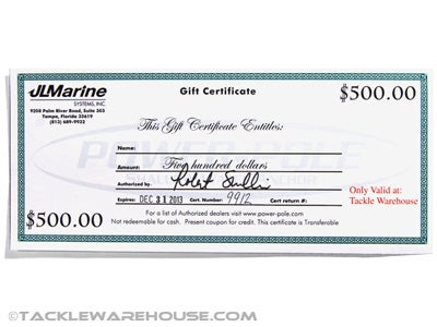 Power Pole $500 Fantays Fishing Gift Certificate