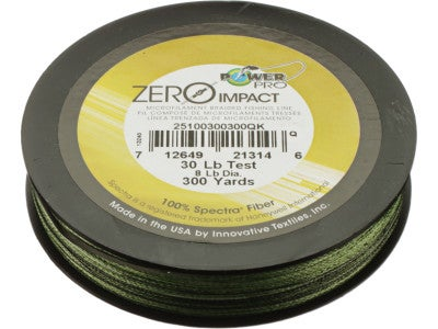 Power Pro Zero Impact Braided LIne Aqua Green