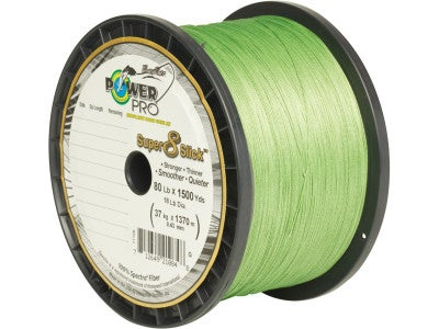 Power Pro Super Slick Braided Line Aqua Green