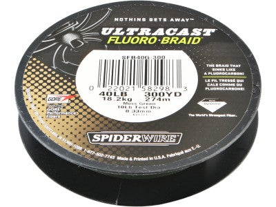 Spiderwire Ultracast Fluoro Braid Moss Green 300yd
