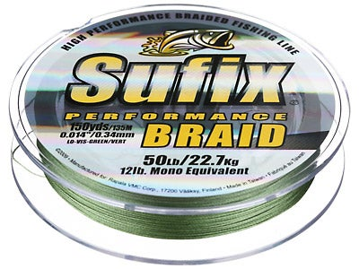Sufix Performance Braid Lo-Vis Green