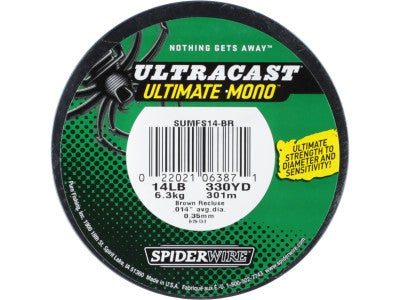 Spiderwire Ultracast Ultimate Mono Brown Recluse