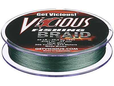 Vicious Braid Moss Green 300yd