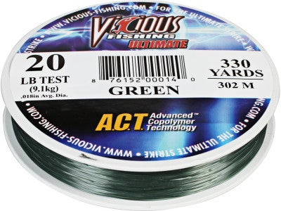 Vicious Ultimate Co-Polymer Lo-Vis Green 330yd