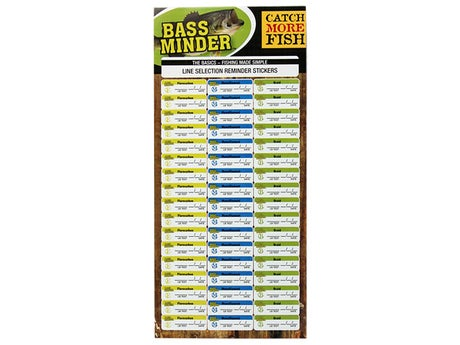 Bass Minder Line Reminder Stickers