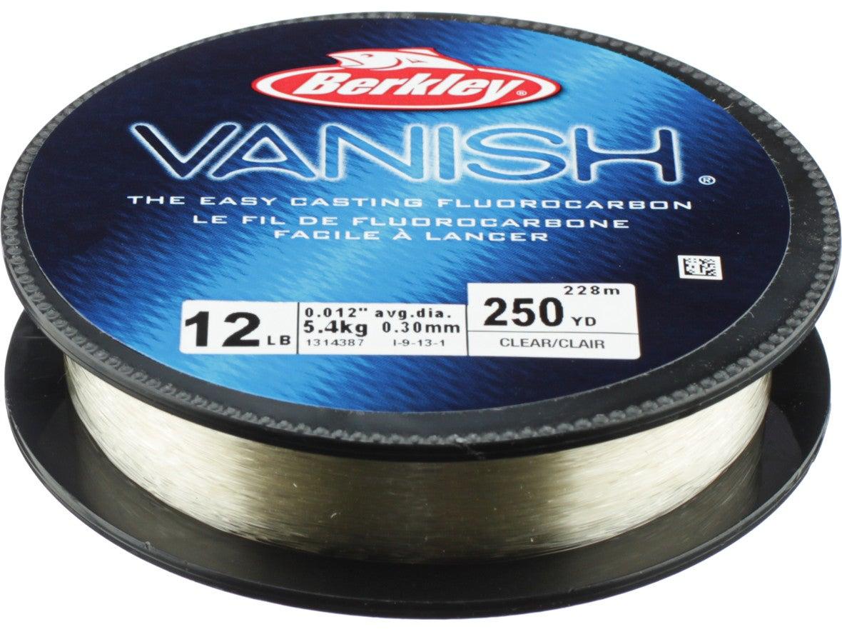 Berkley Vanish Easy Casting Fluorocarbon Fishing Line 250yds Clear