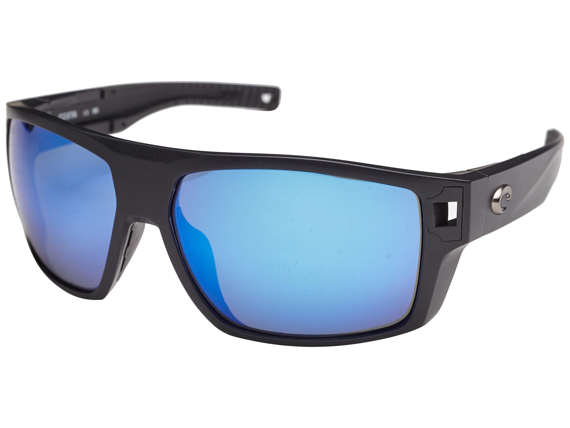 Costa Diego Sunglasses Matte Black//Blue Mirror 580G Polarized Glass Lenses