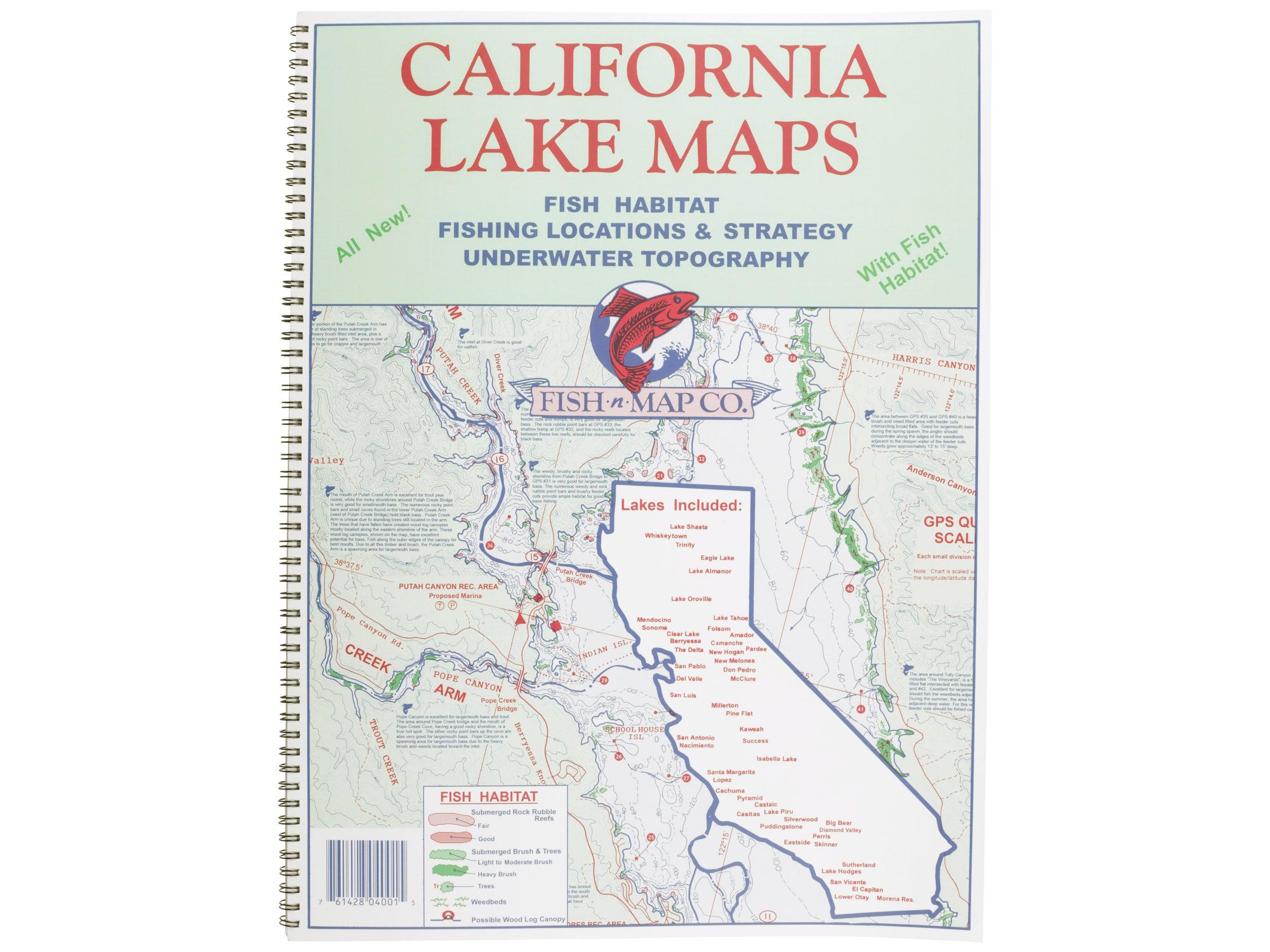 California Map Lakes.Fish N Map California Lake Maps Atlas