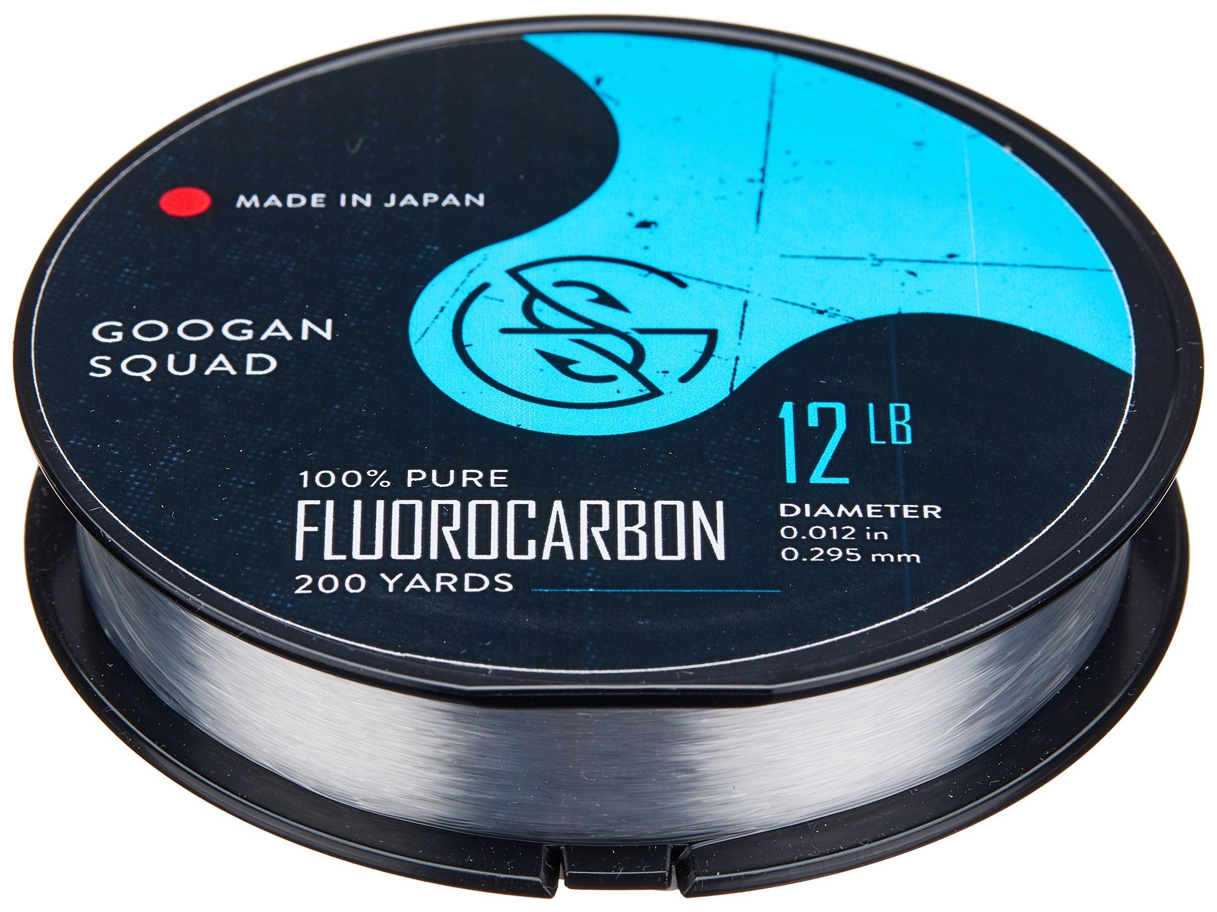 Googan Squad Fluorocarbon Line 200yd Clear