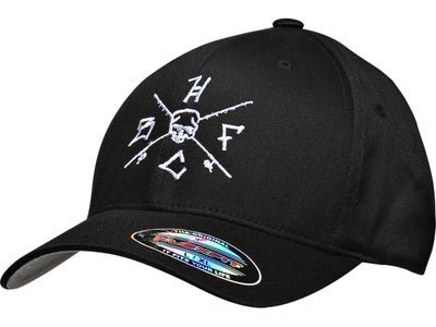 Hardcore Bass Fishing Crossed Rods Flex Fit Hat
