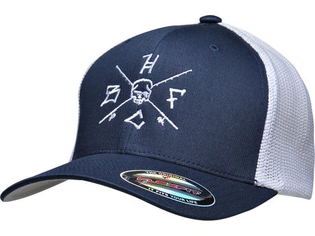 Hardcore Bass Fishing Crossed Rods Flex Fit Hat
