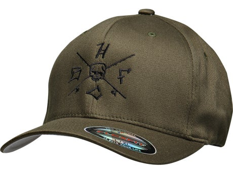 Hardcore bass fishing crossed rods flex fit hat for Fitted fishing hats