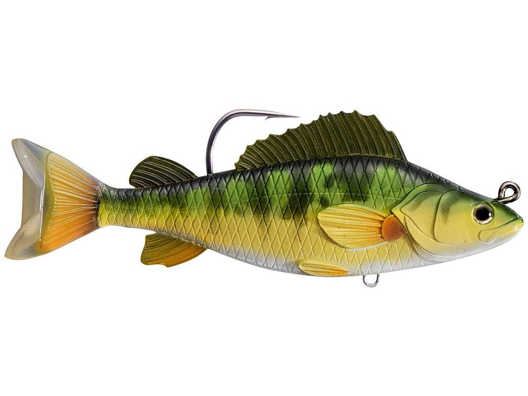 Livetarget yellow perch swimbait for Yellow perch fishing rigs