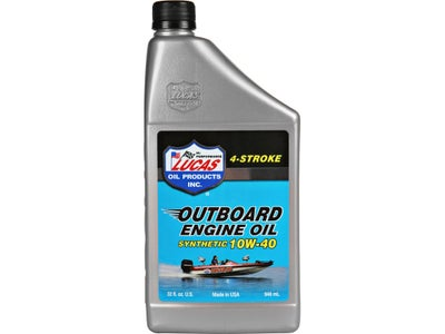 Lucas Oil Synthetic SAE 10W-40 Outboard Eng Oil Quart
