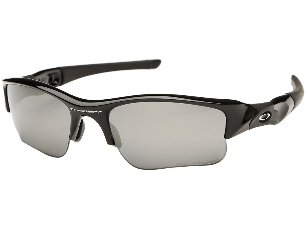 oakley flak jacket xlj polarised  model no. 12 903. black/black iridium polarized