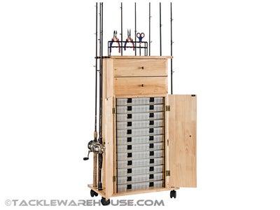 Organized Fishing Utility Box Cabinet