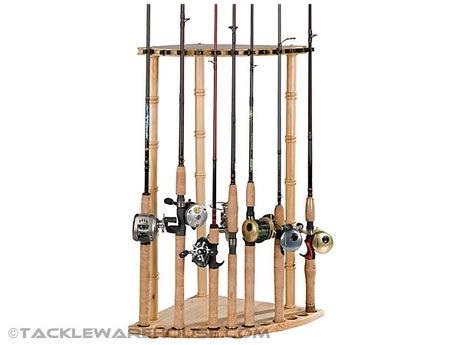 Organized Fishing Corner Rack 12 Rod Capacity
