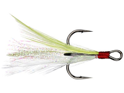 Owner Tournament Trailer Feathered Trebles 2pk