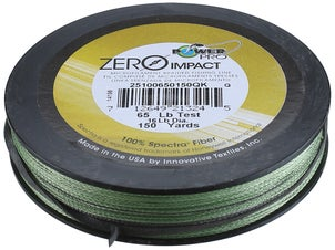Power Pro Zero Impact Braided Line Aqua Green