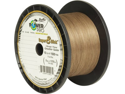 Power Pro Super 8 Slick Braided Line Timber Brown