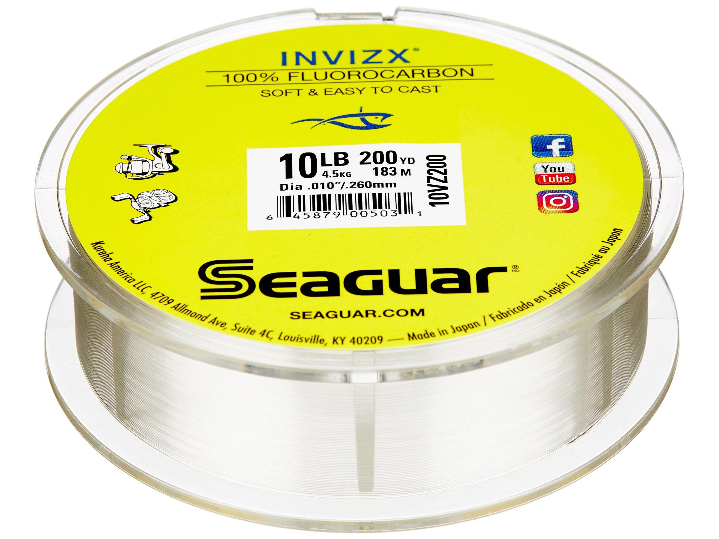 Seaguar 10VZ600 InvizX 600 Flourocarbon Fishing Line