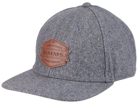 77e9224a0c5 Simms Wool Leather Patch Cap Heather Grey