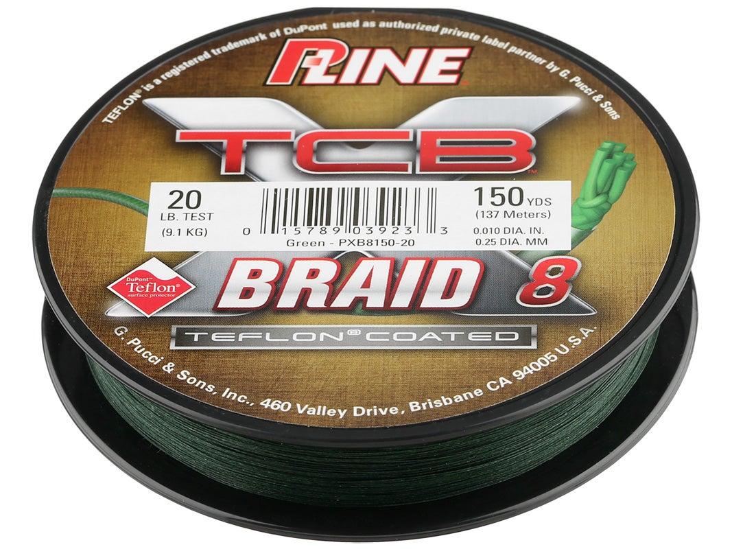 150 lb 500 yards Green New TCB P-Line XTCB Braid