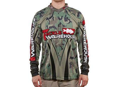 Tackle Warehouse Camouflage Long Sleeve Jersey