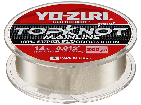 Yo-Zuri Top Knot 100% Fluorocarbon Natural Clear - Tackle